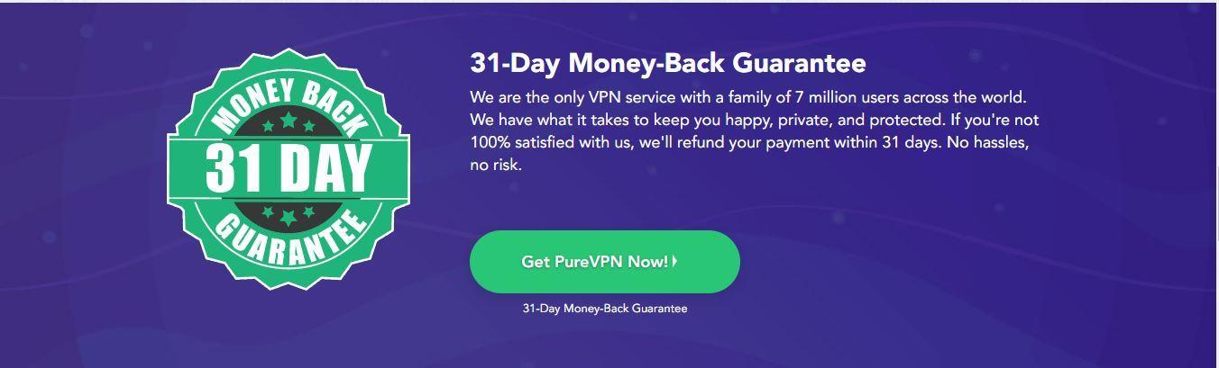 pure vpn money back guarantee