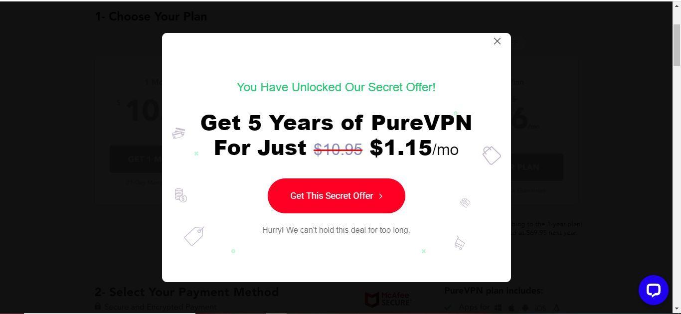 pure vpn secret offer