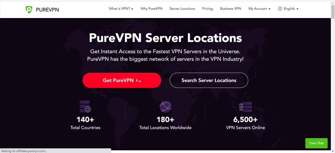pure vpn server