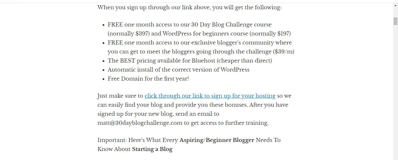 create a blog with domain and hosting