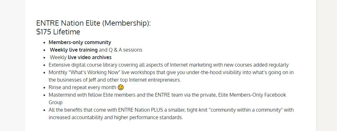 entre nation elite membership