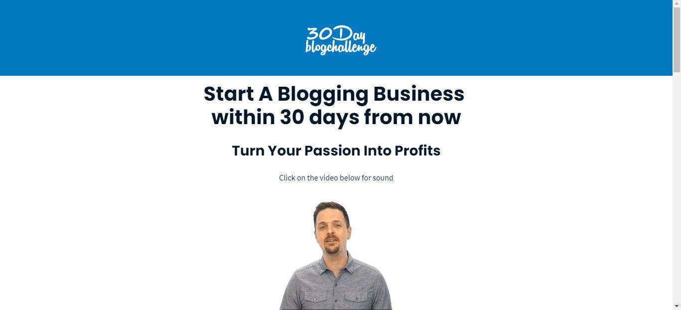 starting a blog 30 day blog challenge