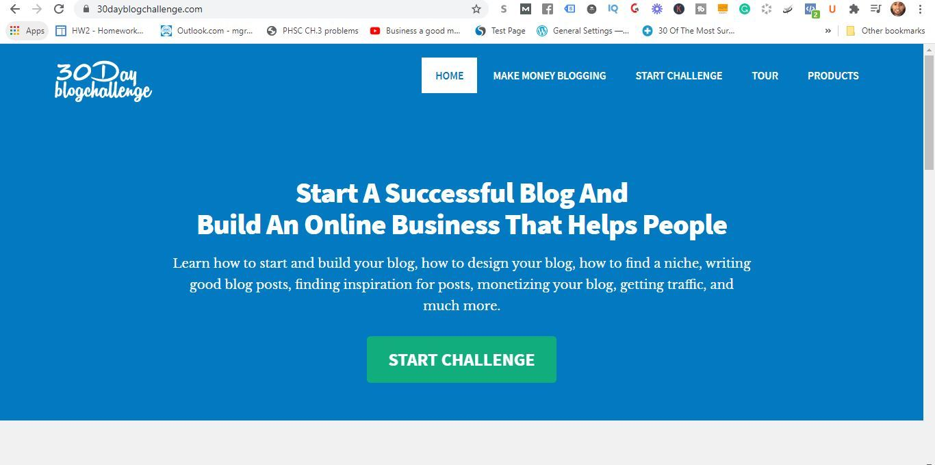 what is the 30 day blog challenge