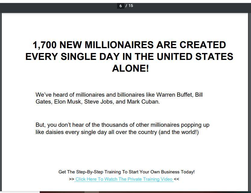 1700 new millionaires