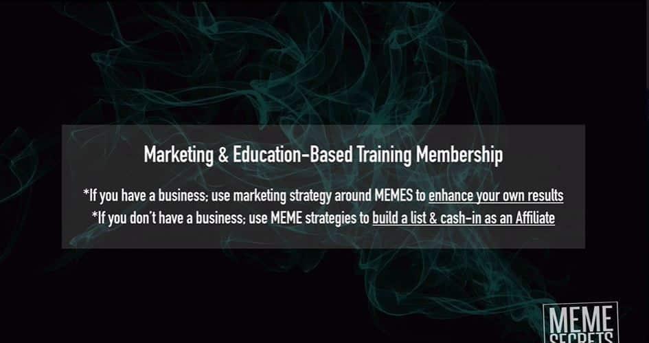 marketing and education based meme secrets