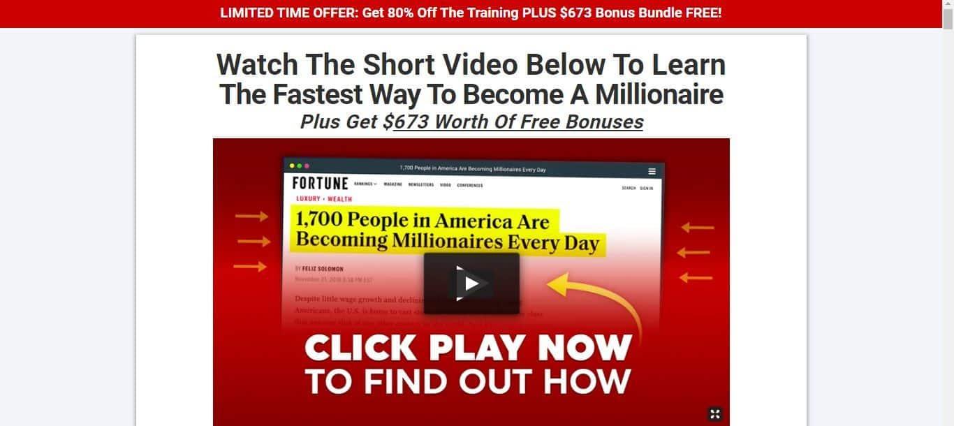 millionaire shortcut front page
